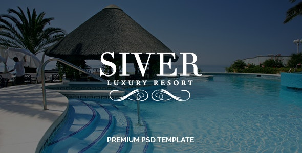 Siver - Luxury Resort PSD Template - Travel Retail