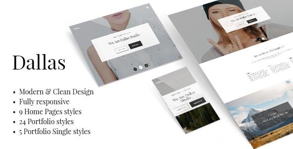 Dallas - Minimal Portfolio Template - Portfolio Creative