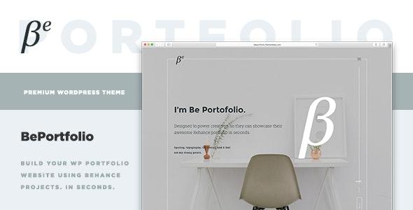 BePortfolio - Behance Projects WordPress Theme - Portfolio Creative