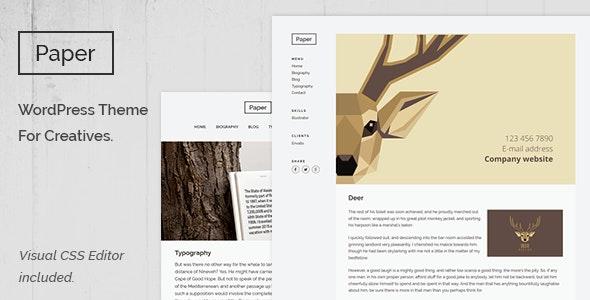Paper - Creative Portfolio Theme - Portfolio Creative