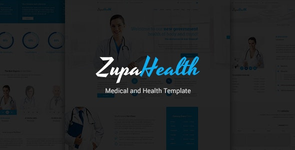 ZupaHealth – Medical and Health PSD Template - Retail PSD Templates
