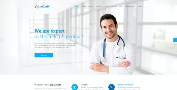 ZupaHealth – Medical and Health PSD Template