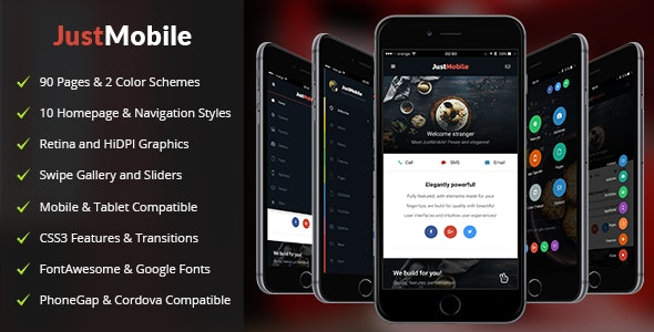 Just Mobile - Mobile Site Templates