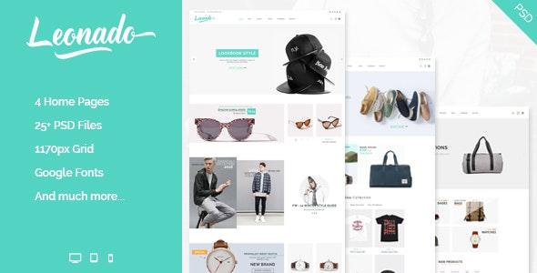 Leonado - Multipurpose eCommerce PSD Template - Shopping Retail