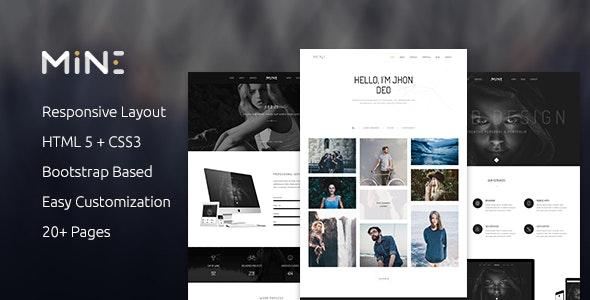 Mine - Creative Agency & Portfolio HTML Template - Creative Site Templates
