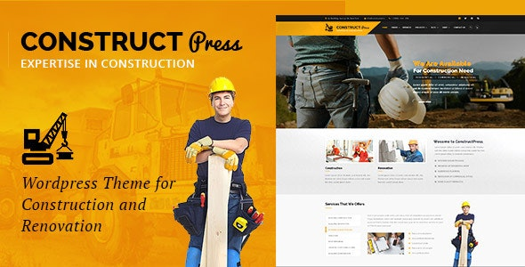 Construct Press - Construction and Renovation WordPress Theme - Business Corporate