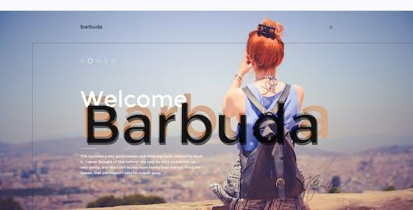 Barbuda — Multipurpose Simple Personal Blog PSD Template