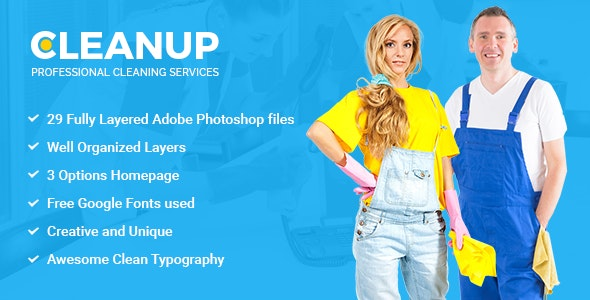 CleanUp - Professional Cleaning Services PSD Template - Miscellaneous Photoshop