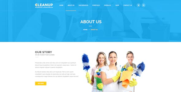 CleanUp - Professional Cleaning Services PSD Template
