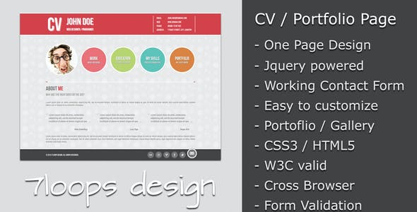 HTML Resume Templates from ThemeForest