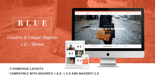 Ves Blue Store Responsive Magento 2 & 1 Theme - Shopping Magento