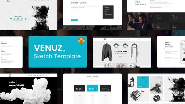 VENUZ - Business Sketch Template - Business Corporate