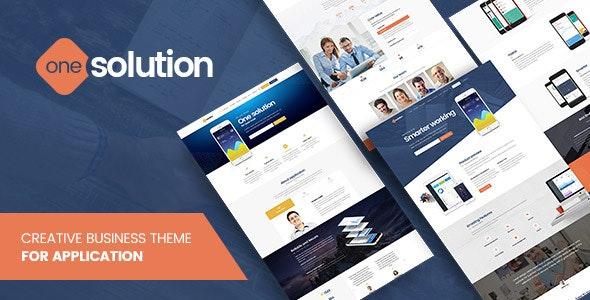 OneSolution - Application Showcase WordPress Theme - Business Corporate