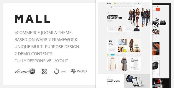 Mall — Multi-Purpose eCommerce Responsive Joomla Template - Retail Joomla