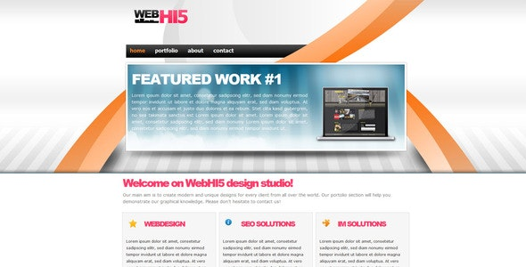 WebHI5 XHTML Design Template - Creative Site Templates