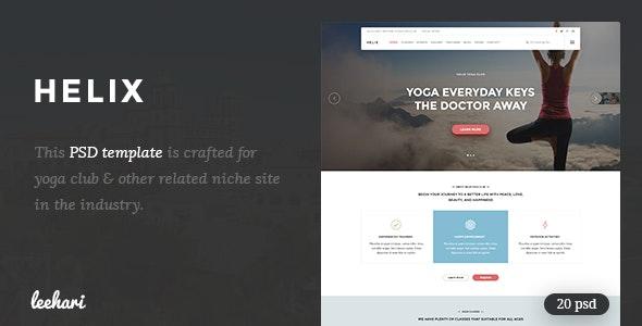 Helix - Yoga Club PSD Template - Health & Beauty Retail