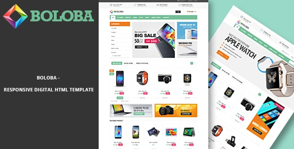 Boloba - Electronics Store eCommerce HTML Template - Electronics Technology