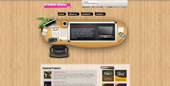 Interior Design Creative Portfolio XHTML Template - Creative Site Templates