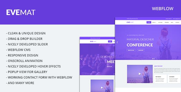 Download Evemat | Event Webflow Template