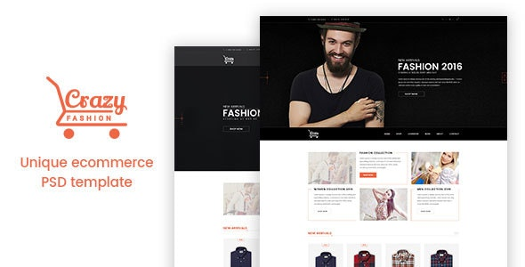 Crazy Fashion eCommerce PSD Template  - Fashion Retail