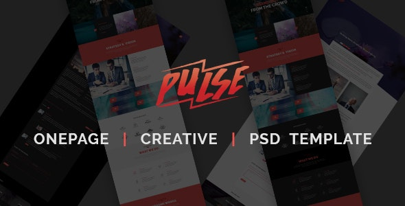 Pulse - Creative Onepage PSD Template - Creative Photoshop