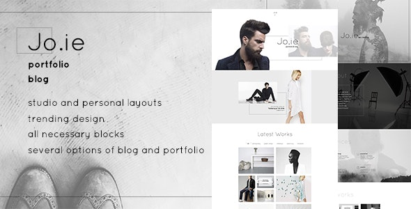 Jo.ie — Multipurpose, Personal & Studio Portfolio, Blog PSD Template - Portfolio Creative