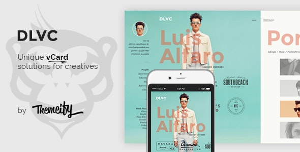DLVC - Personal Vcard & Resume HTML Template - Virtual Business Card Personal