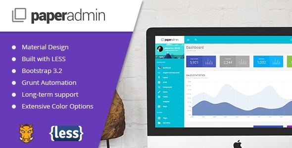 Paper - Material Admin Theme - Admin Templates Site Templates