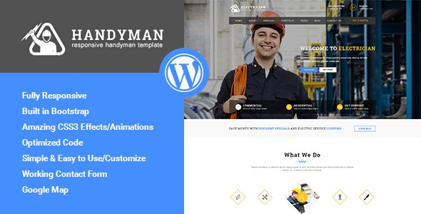 Handyman - Responsive WordPress Theme - Business Corporate