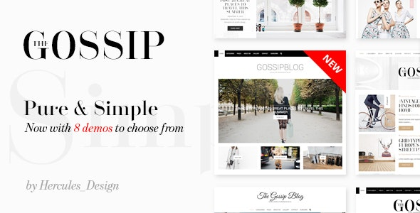 Gossip - Pure & Simple Personal WordPress Blog - Personal Blog / Magazine