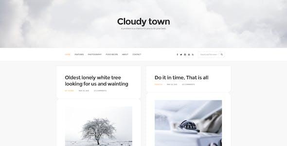 Cloudy Town - Clean Minimal Blog Template