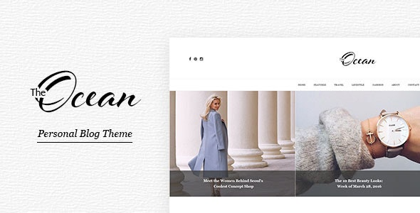 Ocean - Personal Blog PSD Template for Travelers and Dreamers - Personal PSD Templates