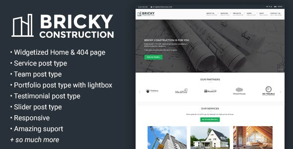 Bricky: A Construction & Builders WordPress Theme