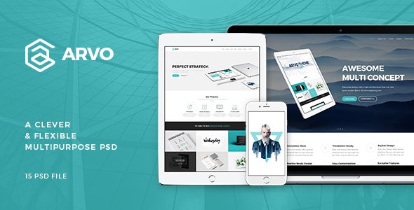 Arvo - A Clever & Flexible Multipurpose PSD - Creative Photoshop