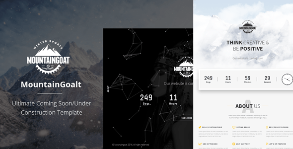 Mountaingoat - Ultimate Coming Soon/Under Construction Template - Under Construction Specialty Pages