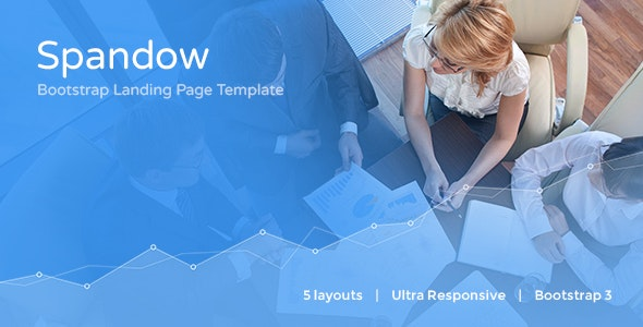 Spandow - Responsive Bootstrap Landing Page Template - Business Corporate