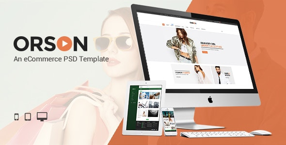 Orson - An eCommerce PSD Template - Retail PSD Templates