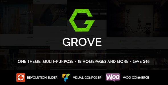 GROVE - Responsive Multipurpose WordPress Theme - Corporate WordPress