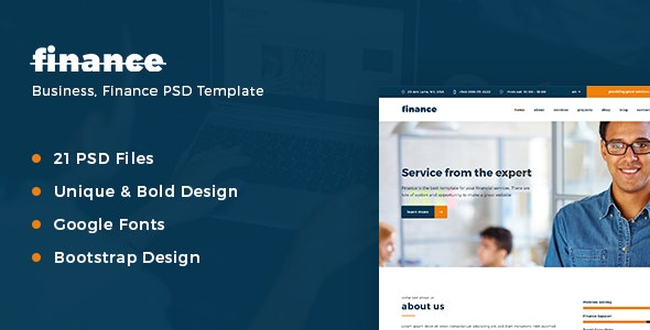 Finance – Business PSD Template - Corporate Photoshop