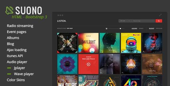 Suono - Music, Radio and Events HTML Template