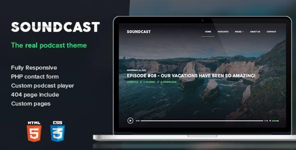 Soundcast - Podcast Responsive Theme