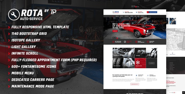 Rota Auto Service - Mechanic Workshop HTML5 Template - Business Corporate