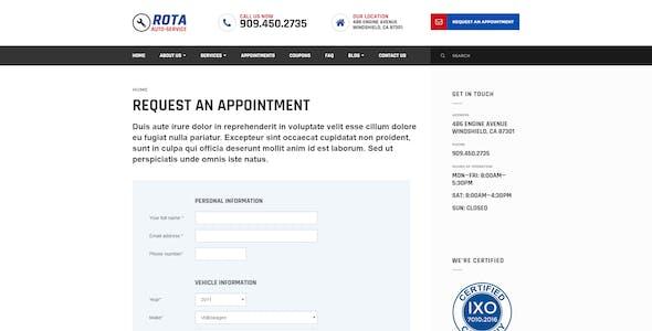 Rota Auto Service - Mechanic Workshop HTML5 Template