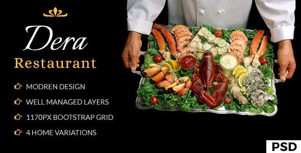 Dera Restaurant PSD Template - Restaurants & Cafes Entertainment