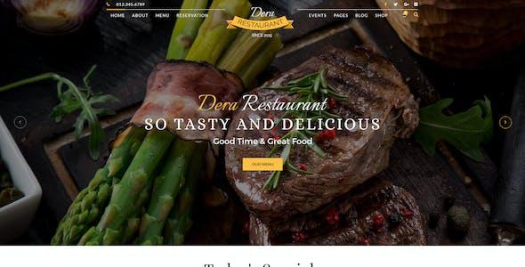 Dera Restaurant PSD Template
