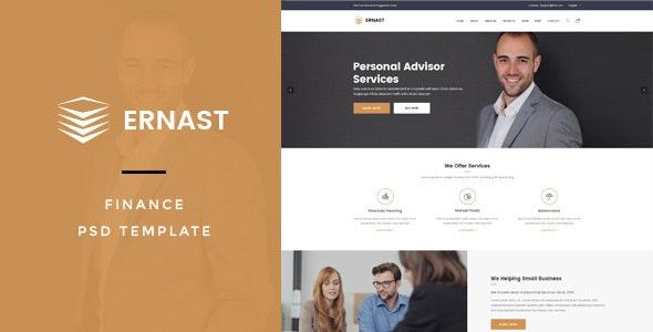 Ernast : Finance PSD Template - Business Corporate