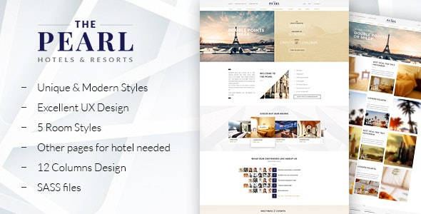 The Pearl - Responsive Hotel HTML5 Template - Travel Retail