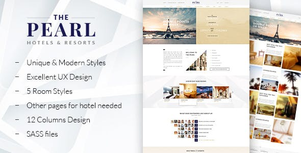 The Pearl - Responsive Hotel HTML5 Template