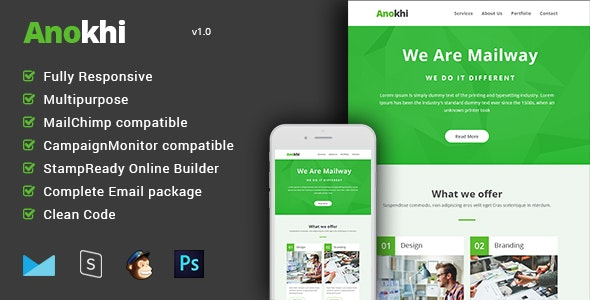 Anokhi - Complete Email Package - Responsive Templates + Builder - Email Templates Marketing