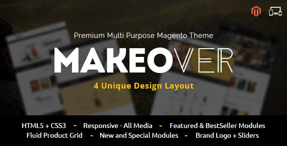 Makeover - Multipurpose Magento Theme - Magento eCommerce